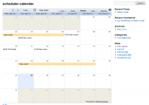 Events Calendar / Scheduler